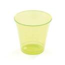 10 coupes à dessert en plastique rigide vert anis 23 cl