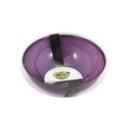 4 coupelles en plastique rigide aubergine 40 cl