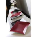 8 grandes assiettes carrées en carton rouge opaque WASABI