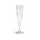 10 flûtes à Champagne en plastique rigide monobloc cristal 13 cl