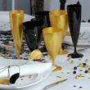 168 verres à vin design plastique rigide noir ébène 15 cl