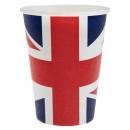 10 Gobelets Angleterre en carton - Tricolore