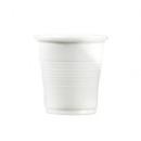 100 gobelets en plastique blanc 10 cl