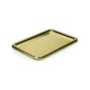 5 plateaux en plastique rectangle or 24x35 cm