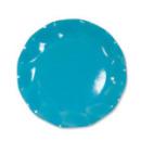 10 grandes assiettes rondes en carton turquoise party line 27 cm