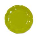 10 grandes assiettes rondes en carton vert citron party line 27 cm