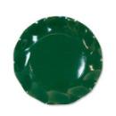 10 grandes assiettes rondes en carton vert PARTY LINE 27 cm