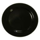 20 assiettes en plastique rigide noir 26 cm