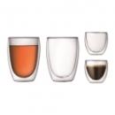 Set de 4 verres à double paroi 8 cl / 25cl - PAVINA BODUM®