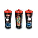 Boite à bonbons en métal noir et rouge Lapins Crétins™