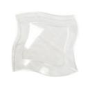 10 assiettes en plastique rigide carrées transparentes 18 cm
