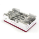 50 fourchettes en plastique rigide métallisé 19 cm