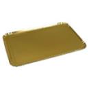 25 plateaux de service rectangle or 28x42 cm