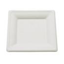 50 assiettes carrées biodégradables 15 cm