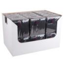 30 serviettes en papier noir 38x38cm
