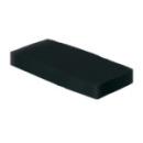 50 serviettes en papier microgaufré double épaisseur noir 38 cm pliage 1/8