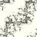 25 serviettes papier harmony blanc / noir 40 cm