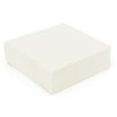 50 serviettes en papier microgaufré double épaisseur blanc 38 cm