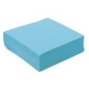 50 serviettes papier microgaufré double épaisseur bleu caraïbes 38 cm