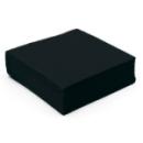 50 serviettes papier microgaufré double épaisseur noir 38 cm