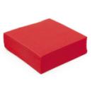 50 serviettes papier microgaufré double épaisseur rouge 38 cm