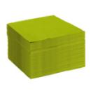 50 serviettes papier microgaufré double épaisseur vert 38 cm