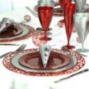 4 sous-assiettes rondes rouge carmin 30 cm