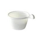 50 tasses à café en plastique blanc avec anse 10 cl