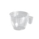 50 tasses à café en plastique transparent avec anse 18 cl