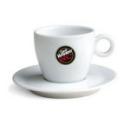 6 tasses en porcelaine blanche pour Cappuccino Caffè Vergnano