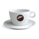 6 tasses en porcelaine  blanche pour Chocolat Caffè Vergnano