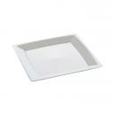 24 assiettes milan en plastique blanc 17 cm