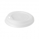 50 Couvercles en bio-plastique blanc biodégradable pour gobelets 35 cl