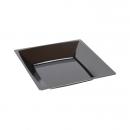 12 Assiettes creuses MILAN en plastique noir 17 cm