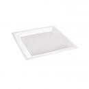 12 Grandes assiettes MILAN en plastique blanc 24 cm