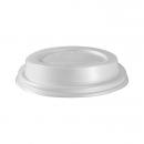 50 Couvercles en bio-plastique blanc biodégradable pour gobelets triple paroi 35 cl