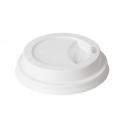 40 Couvercles en plastique blanc pour gobelets IZZA 24 cl