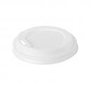 40 Couvercles en bio-plastique blanc biodégradable pour gobelets 24 cl