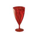 6 verres à vin design plastique rigide rouge 15 cl