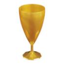 6 verres à vin design plastique rigide or 15 cl
