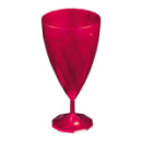 6 verres à vin design plastique rigide rose magenta 15 cl