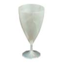 168 verres à vin design plastique rigide blanc nacré 15 cl