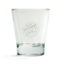 6 verres à eau transparents Caffè Vergnano