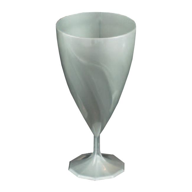 6 verres eau design plastique rigide argent 25 cl. Black Bedroom Furniture Sets. Home Design Ideas