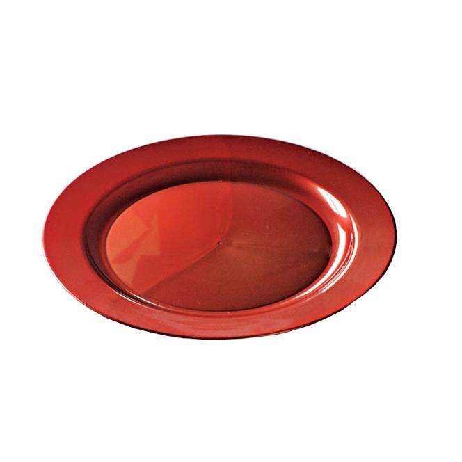 Assiettes Rondes Plastique Rouge Carmin Prestige 19cm Assiettes