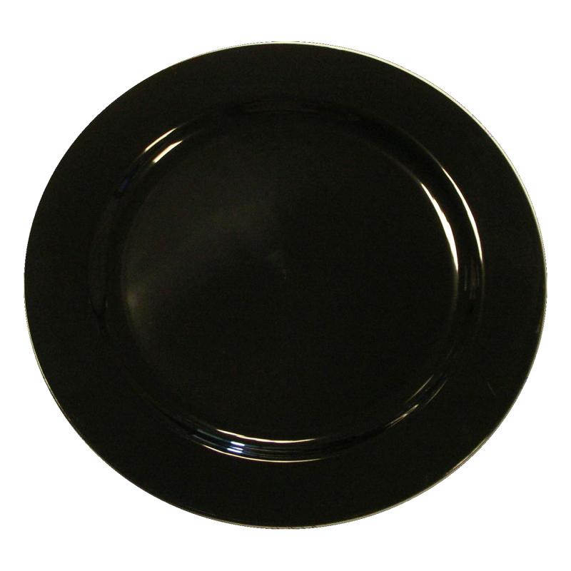 20 assiettes en plastique rigide noir 23 cm. Black Bedroom Furniture Sets. Home Design Ideas