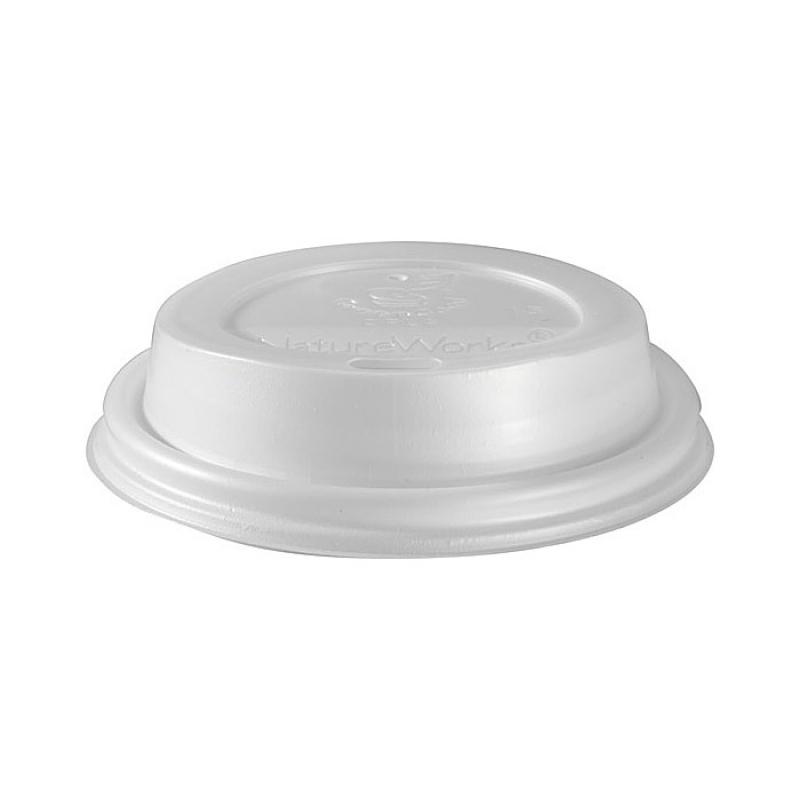 50 couvercles en plastique blanc biod gradable pour gobelets triple paroi 24 cl. Black Bedroom Furniture Sets. Home Design Ideas