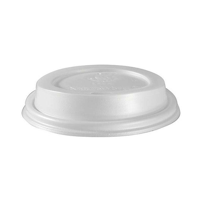 50 couvercles en bio plastique blanc biod gradable pour gobelets triple paroi 35 cl. Black Bedroom Furniture Sets. Home Design Ideas
