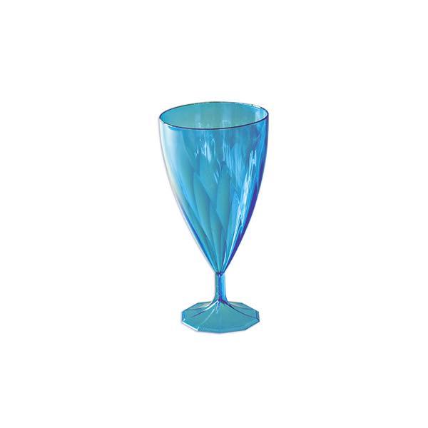 6 verres eau design plastique rigide cristal bleu 25 cl. Black Bedroom Furniture Sets. Home Design Ideas