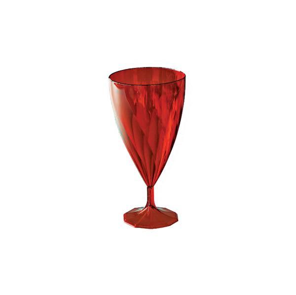 6 verres eau design plastique rigide cristal rouge 25 cl - Verres a eau design ...